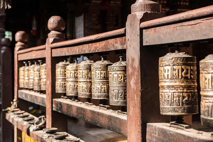Bodh Praying Wheels Paro Bhutan