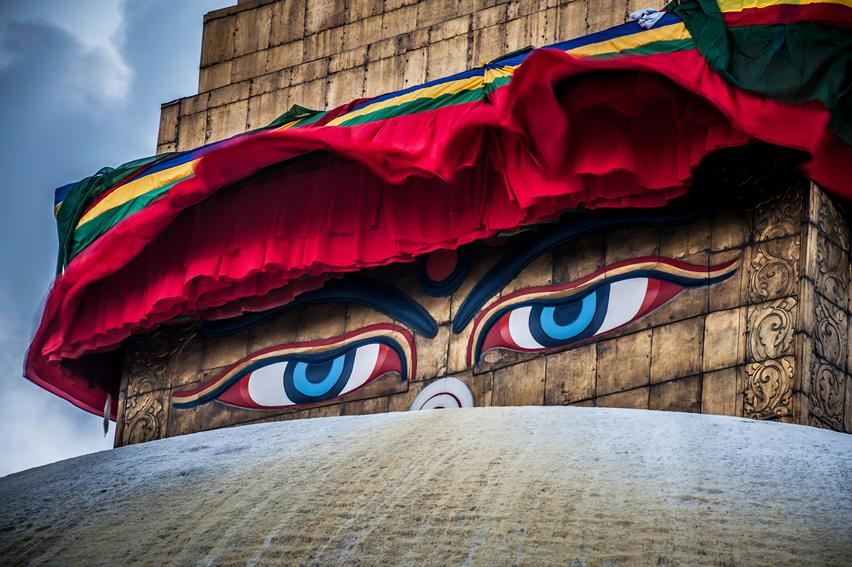 Buddha wisdom eyes Kathmandu, Nepal