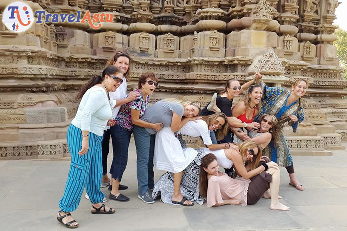 Travel Astu group enjoying Khajuraho trip